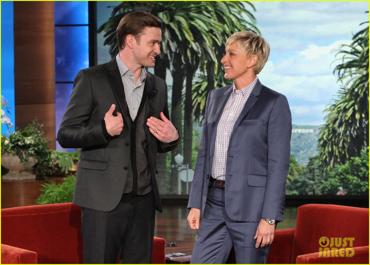 justin timberlake talks jessica biel marriage on ellen 022857333