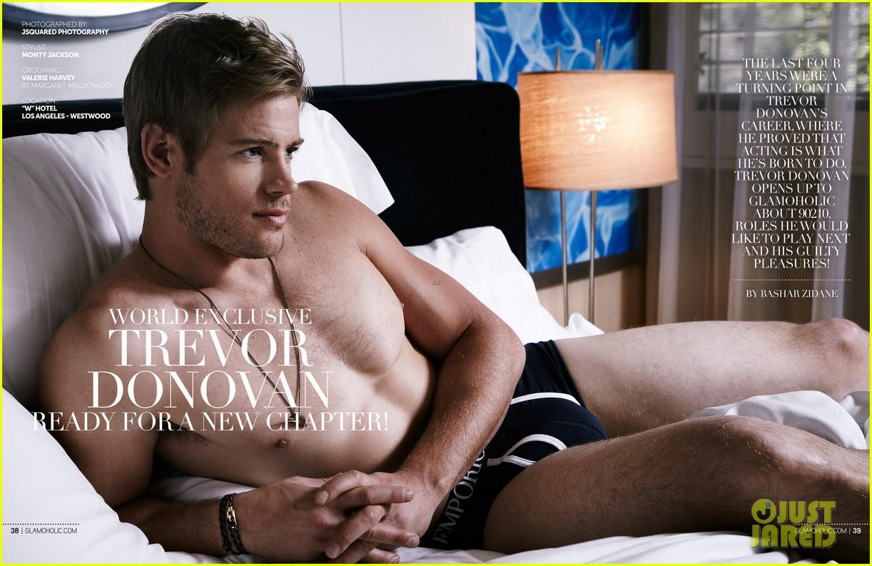 trevor donovan underwear clad glamoholic april 2013 cover 012860050
