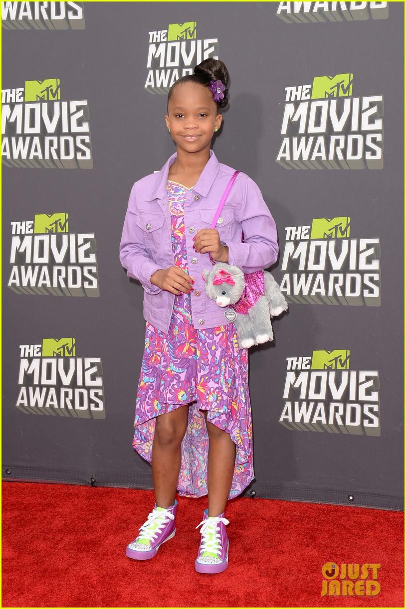 quvenzhane wallis mtv movie awards 2013 red carpet 042849957