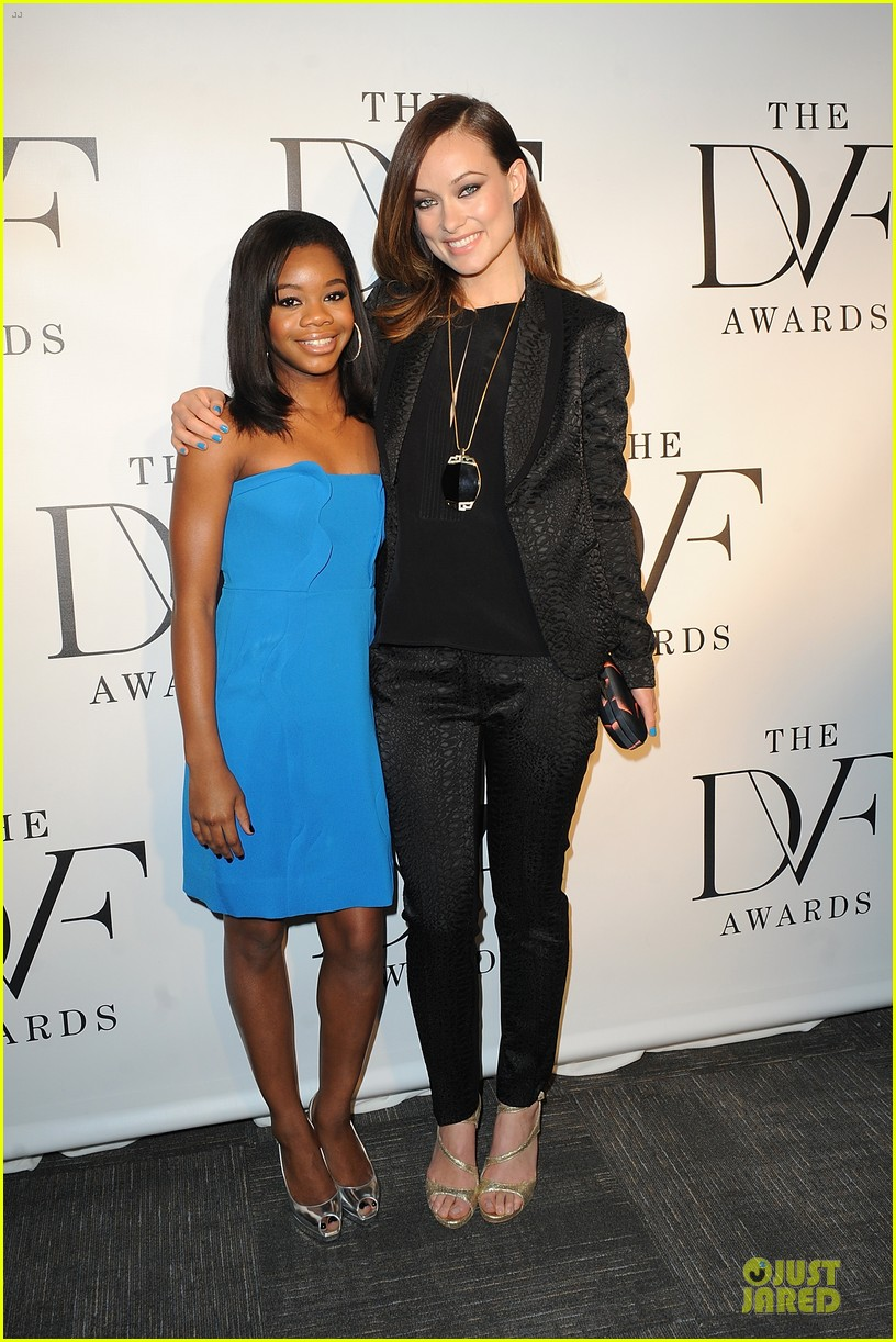olivia wilde dvf awards with gabby douglas 052843996
