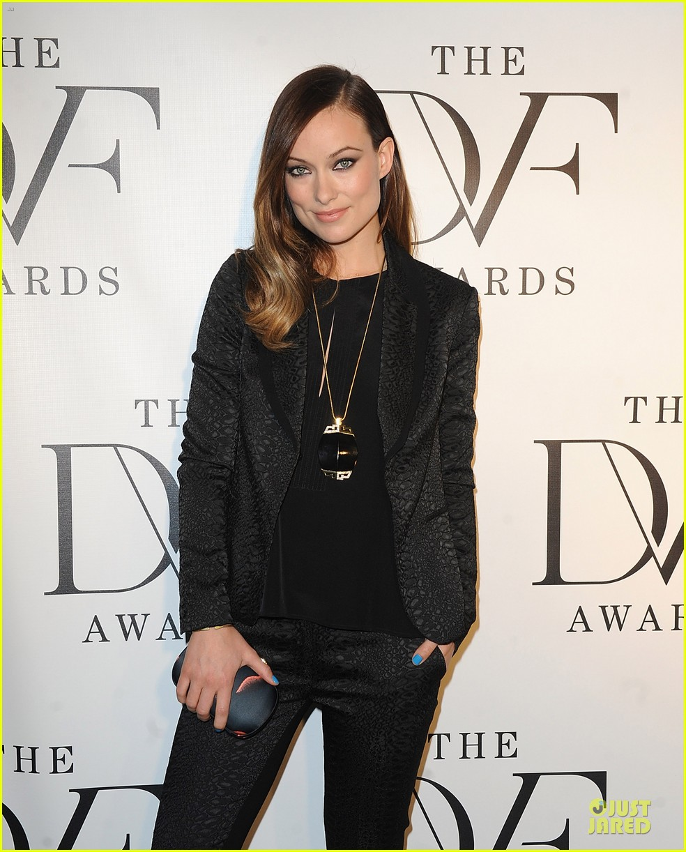 olivia wilde dvf awards with gabby douglas 092844000