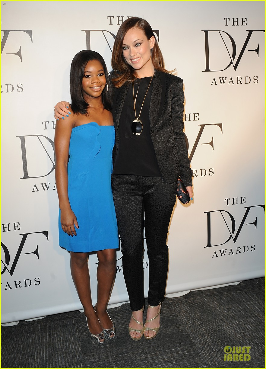 olivia wilde dvf awards with gabby douglas 102844001