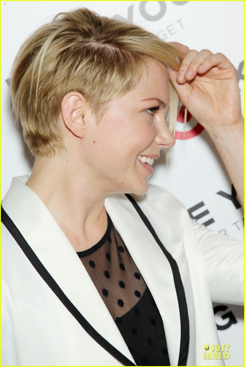 michelle williams haircut debut at kate young for target launch 062846438