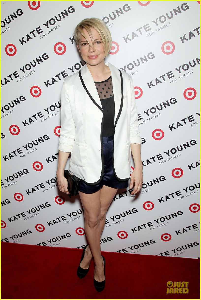 michelle williams haircut debut at kate young for target launch 112846443