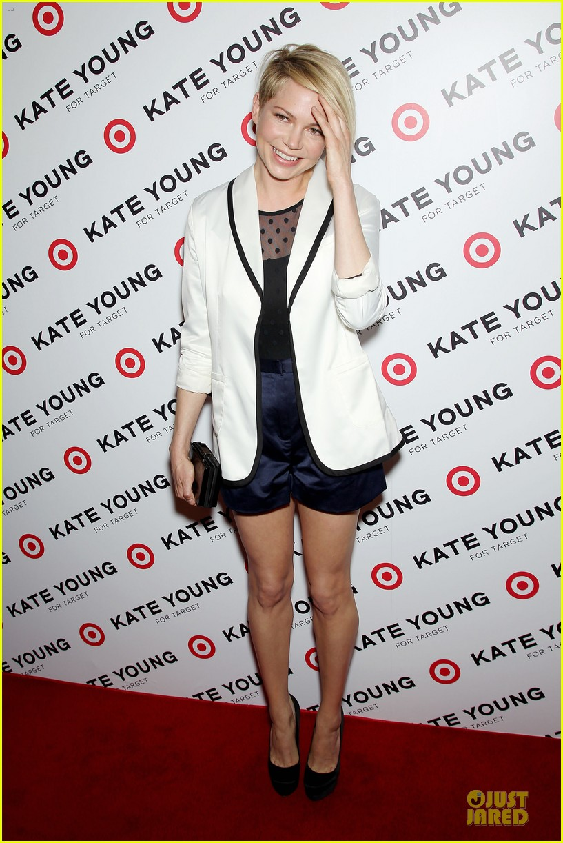 michelle williams haircut debut at kate young for target launch 122846444