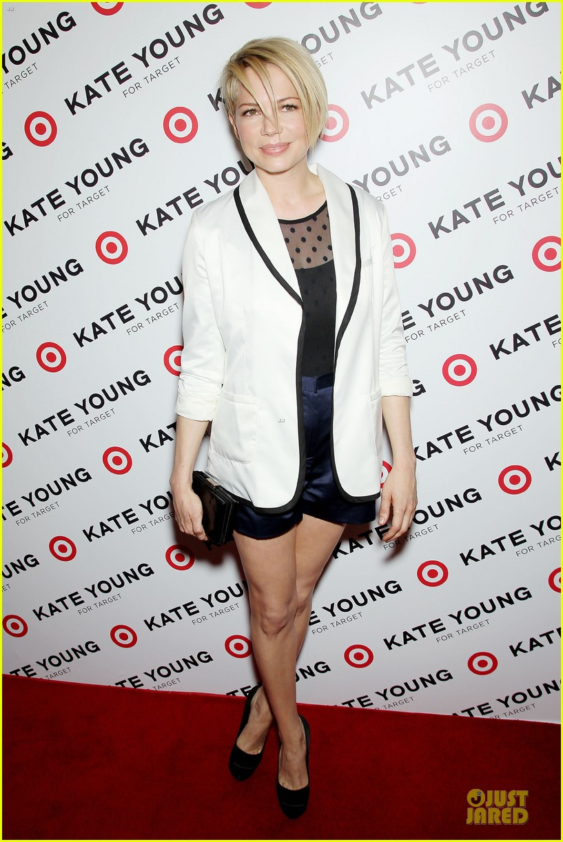 michelle williams haircut debut at kate young for target launch 152846447