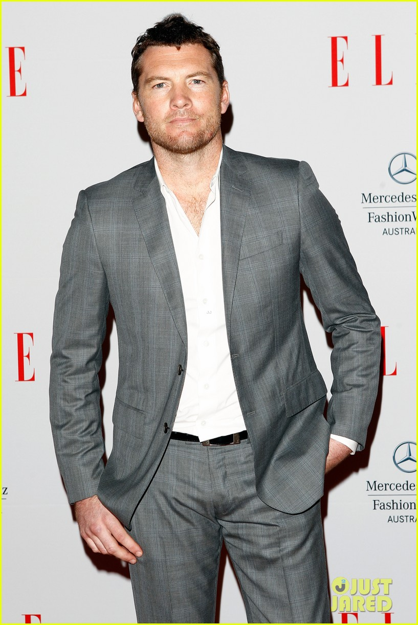 sam worthington hello elle australia fashion show 022848251