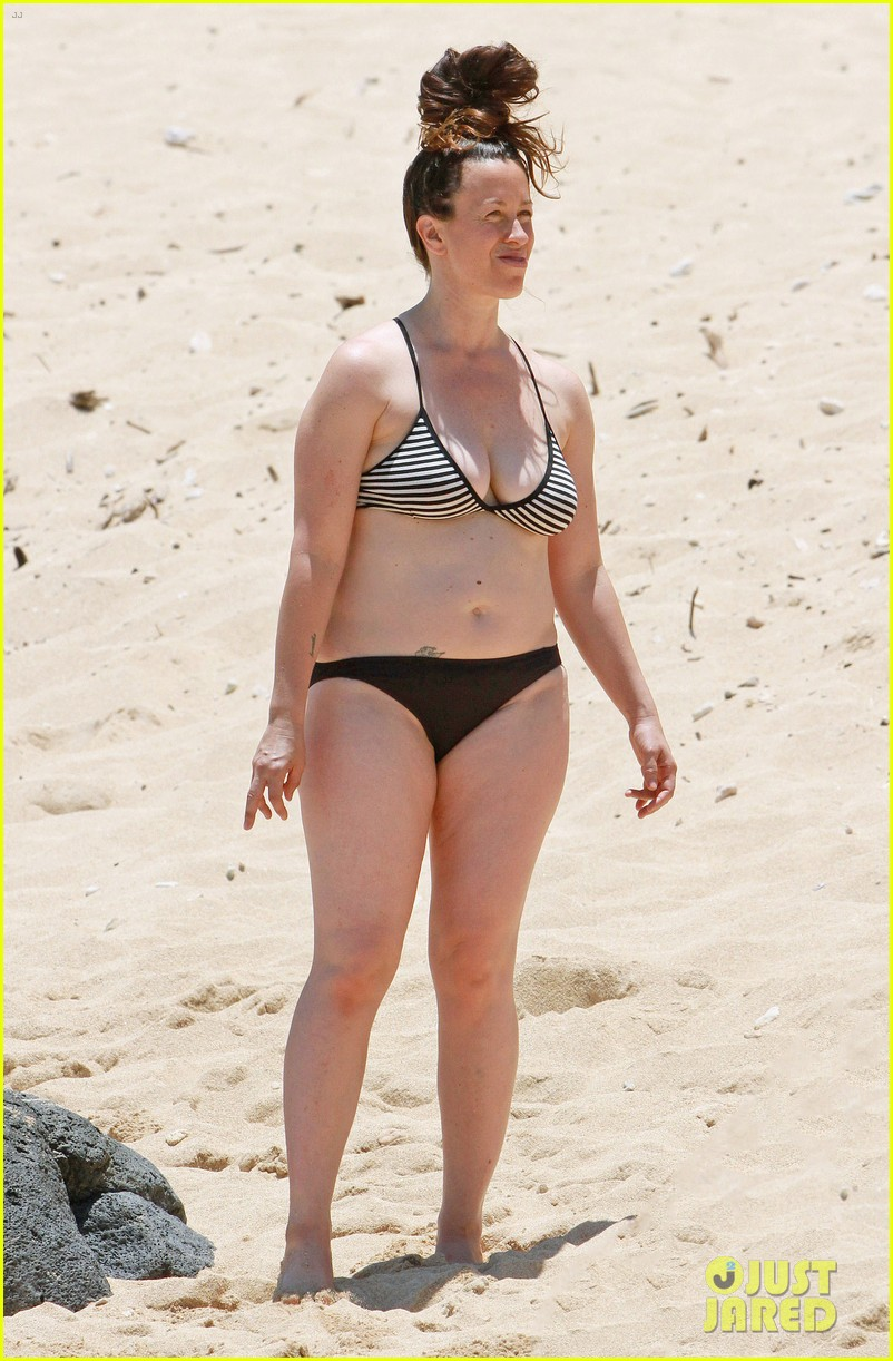 alanis morissette bikini beach vacation with ever 102864001