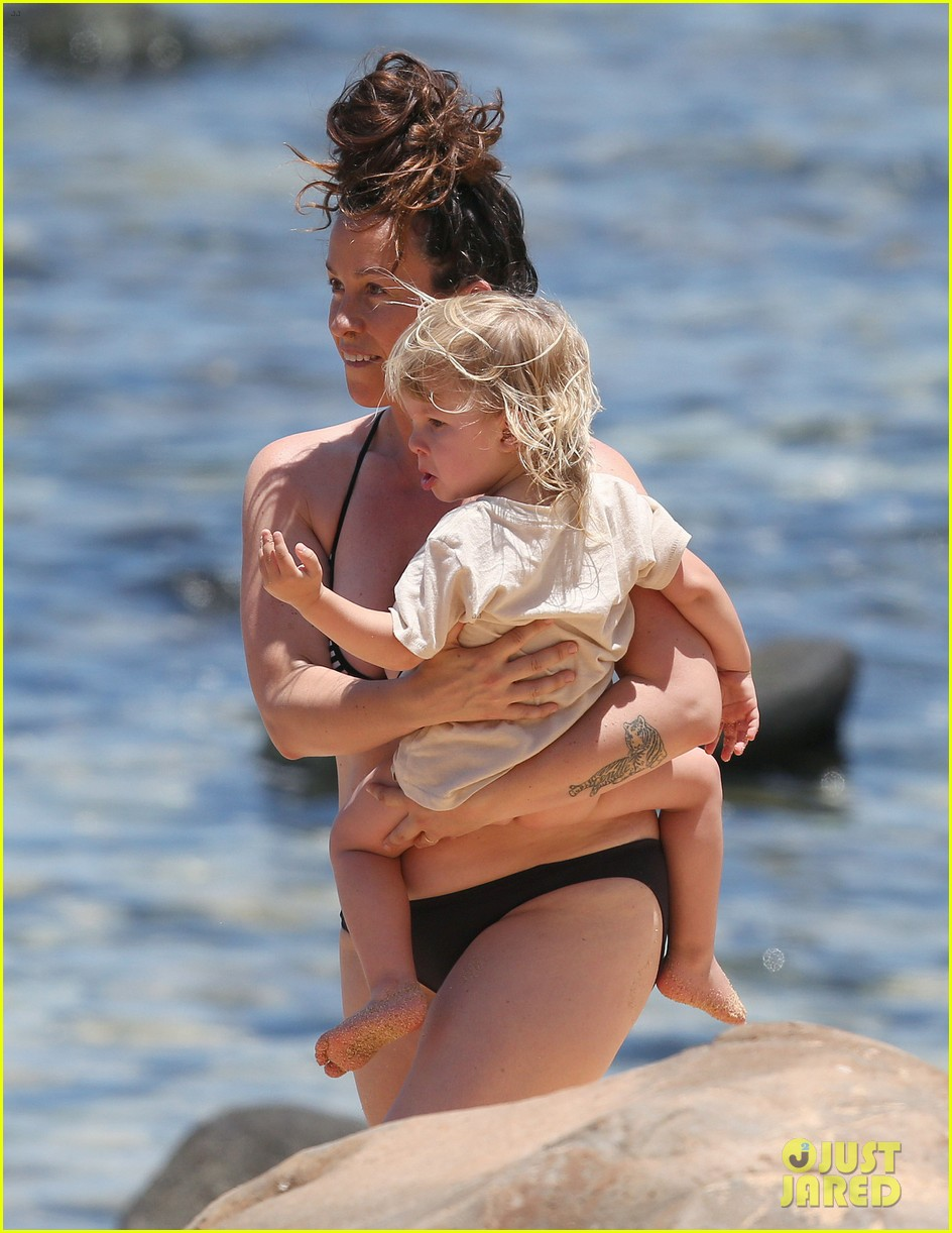 alanis morissette bikini beach vacation with ever 172864008