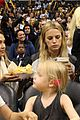 jessica alba cash warren attend la sparks game with the kids 10
