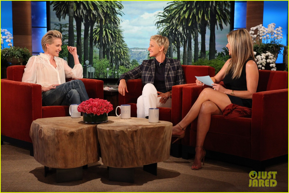 jennifer aniston wears maids outfit talks friends reunion on ellen 012876168