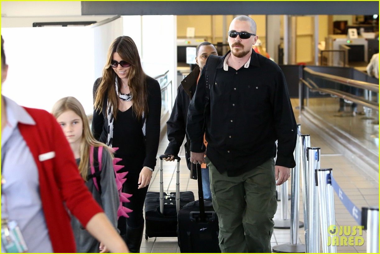 christian bale buzz cut at lax 102874434