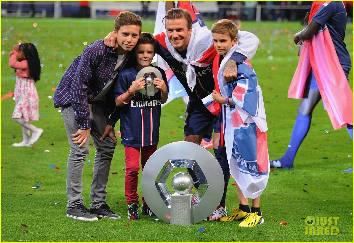 david beckham celebrates final soccer game with family 132873288