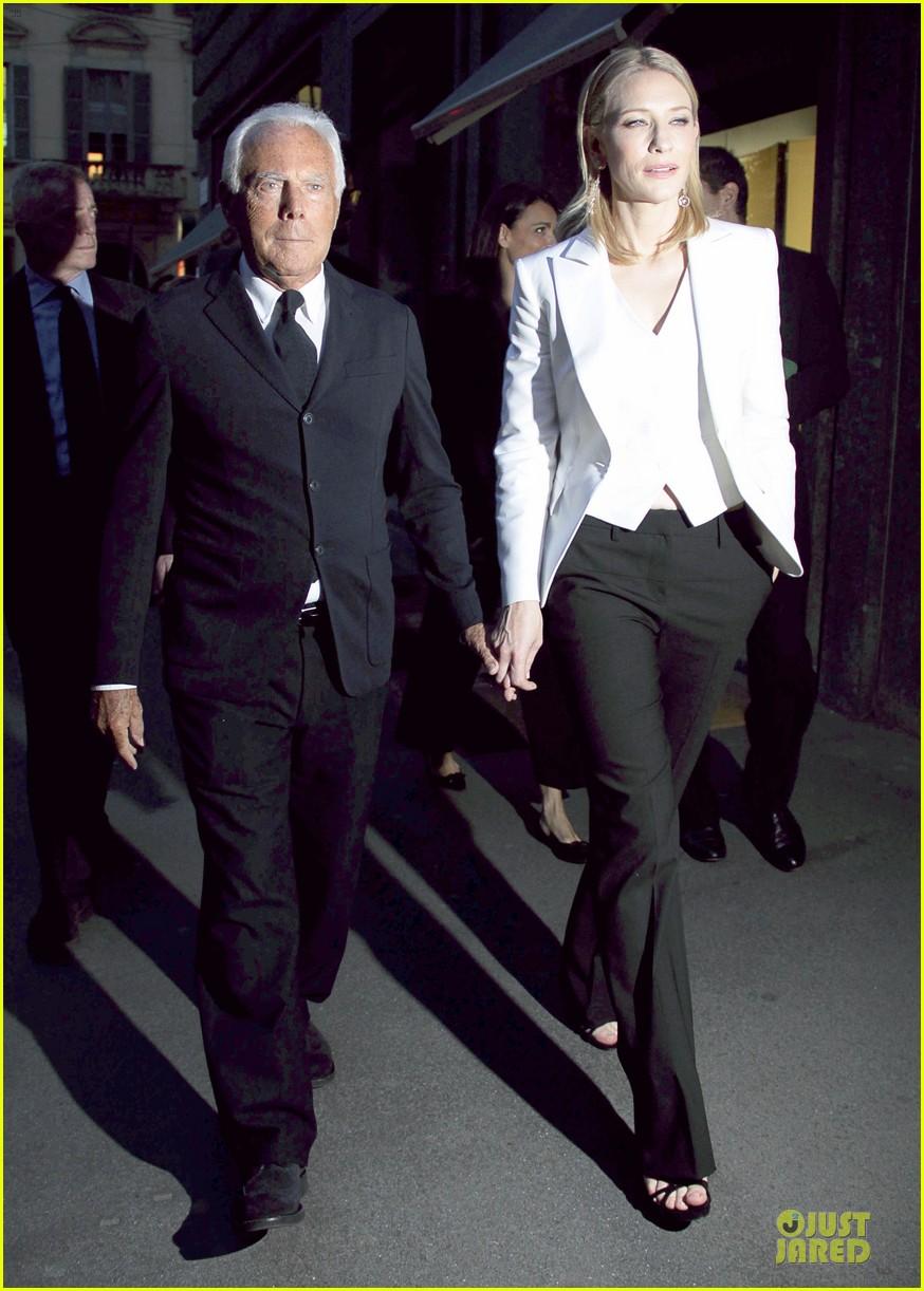 cate blanchett giorgio armani hold hands in milan 032872706
