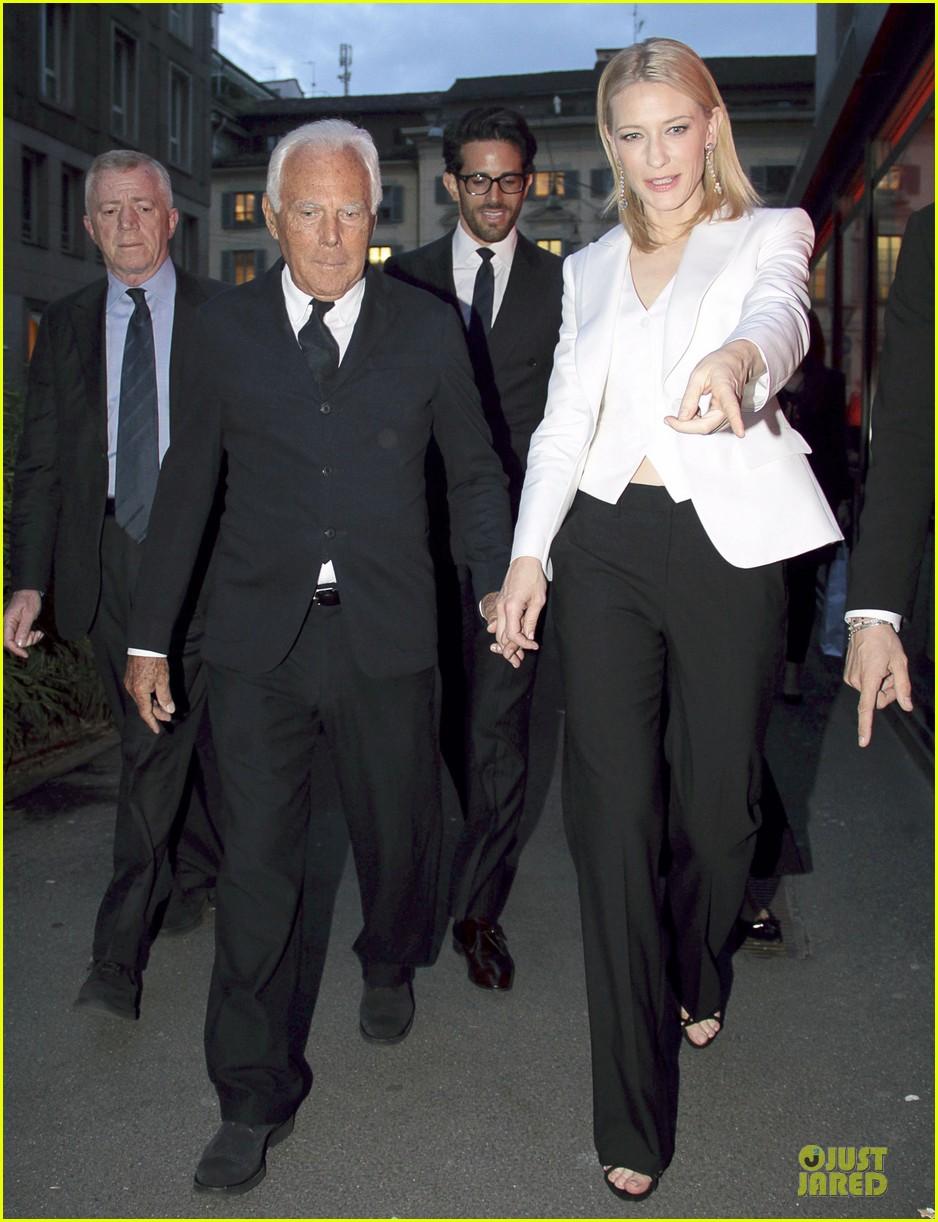 cate blanchett giorgio armani hold hands in milan 102872713