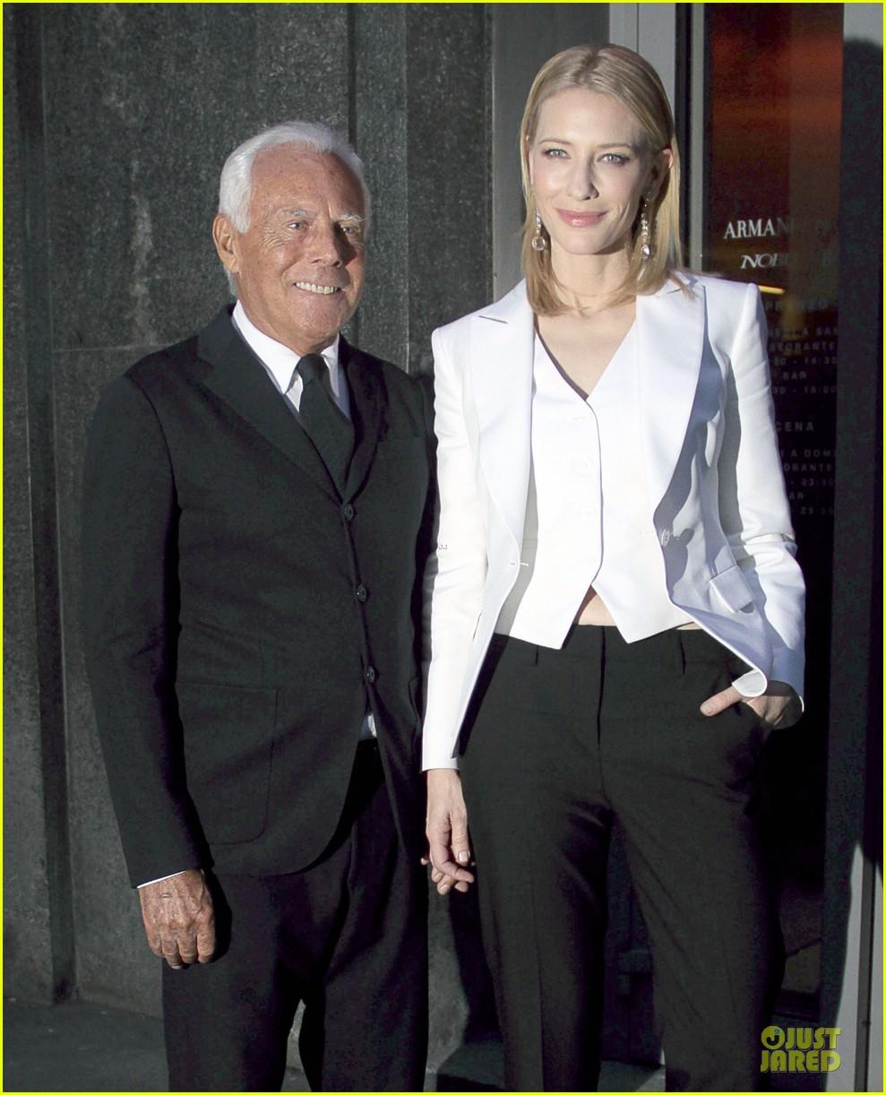 cate blanchett giorgio armani hold hands in milan 112872714