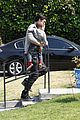 orlando bloom father son outing in los angeles 08