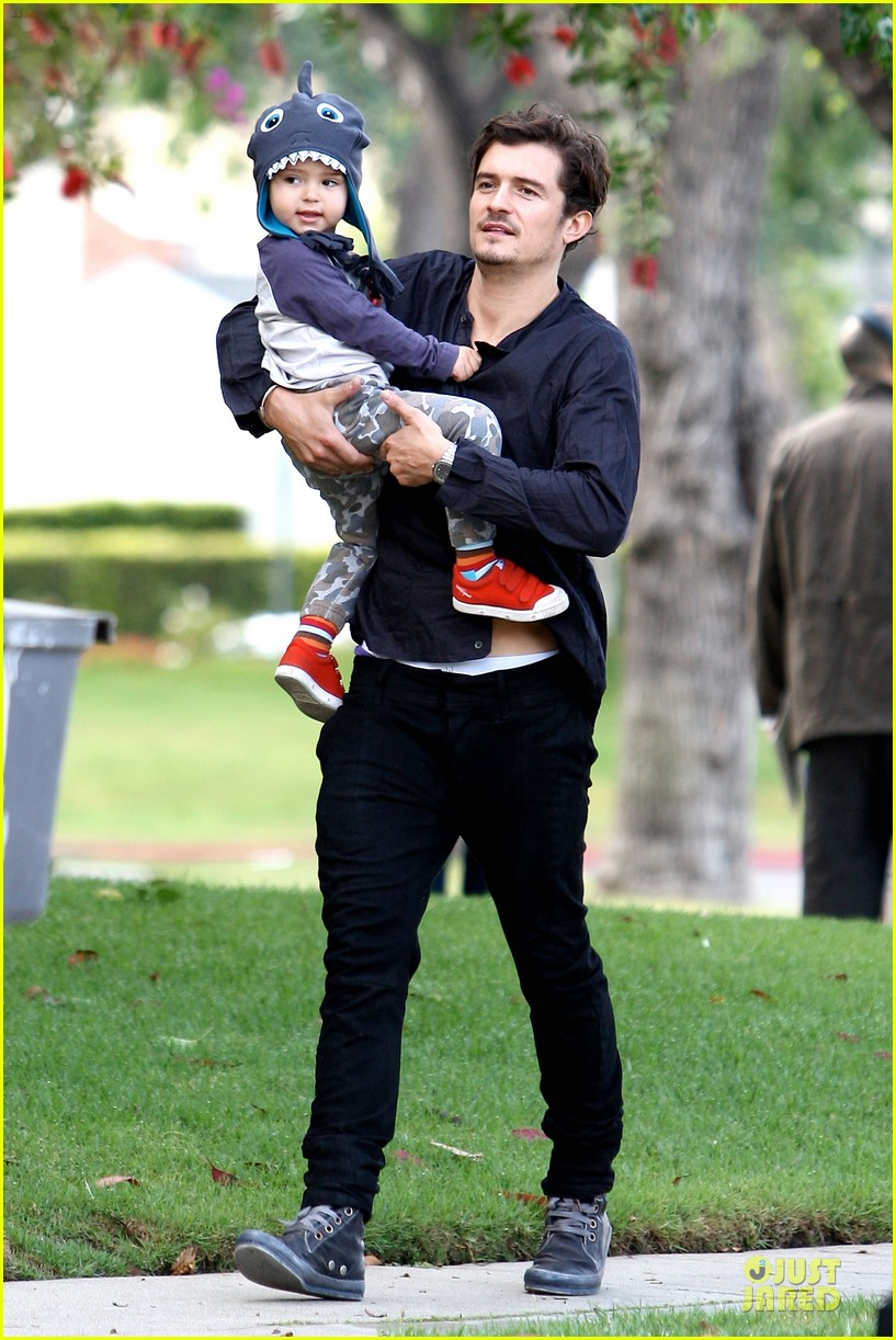 orlando bloom flynn la stroll after miranda kerr met ball 012866030