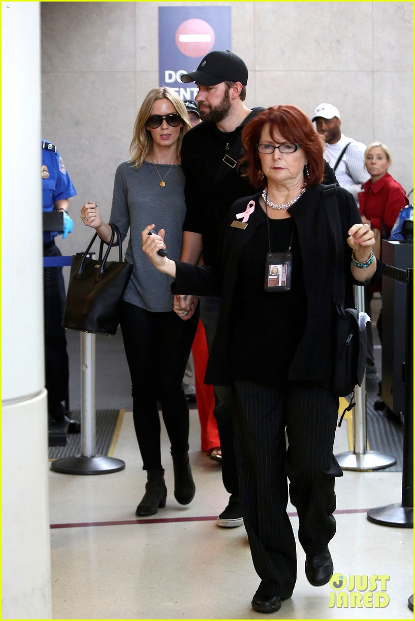 emily blunt john krasinski return to los angeles 152868196