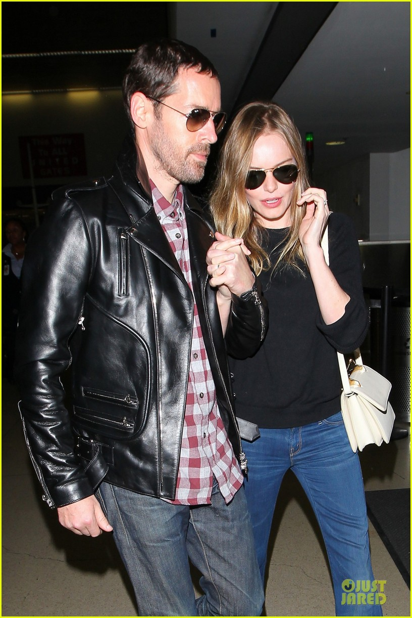 Kate Bosworth & Michael Polish: LAX Landing After Met Ball ...