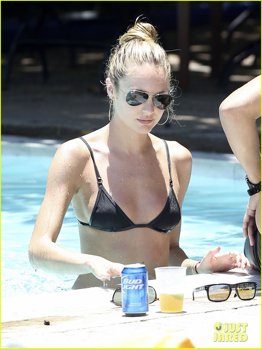 candice swanepoel poolside bikini babe  with hermann nicoli 042878429