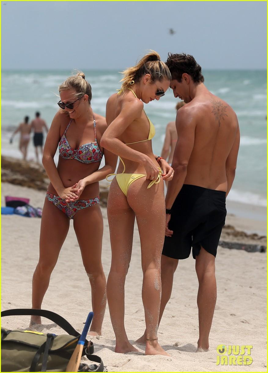 candice swanepoel yellow bikini babe 232879142