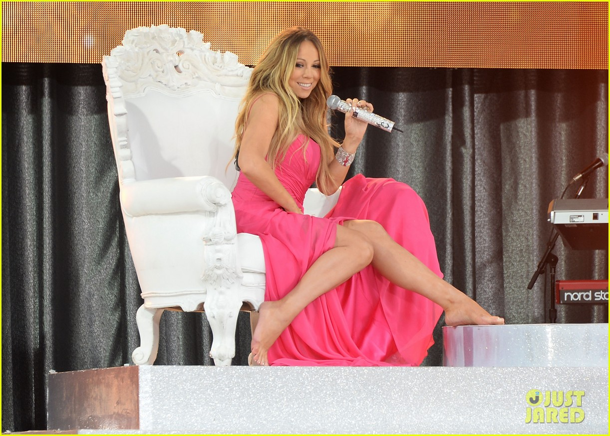 mariah carey wardrobe malfunction on gma 072877421