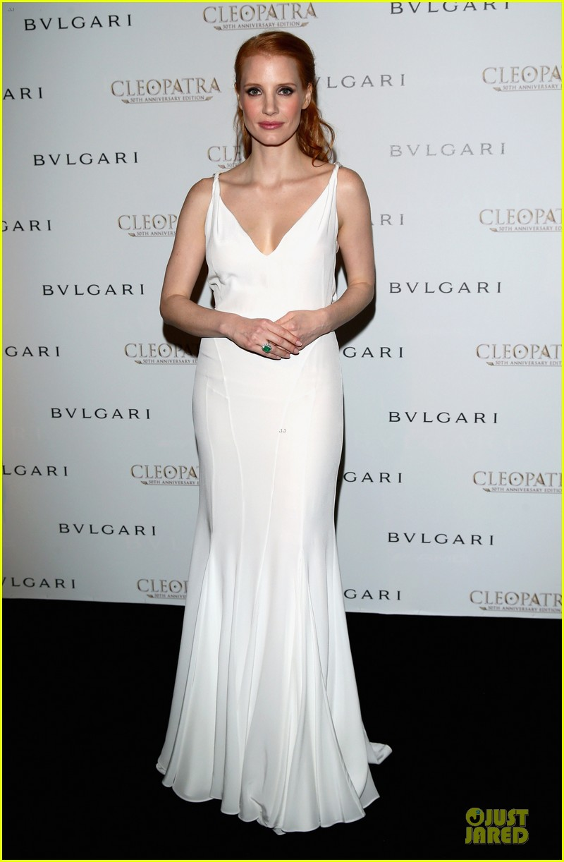 jessica chastain cleopatra cocktail party 012875862