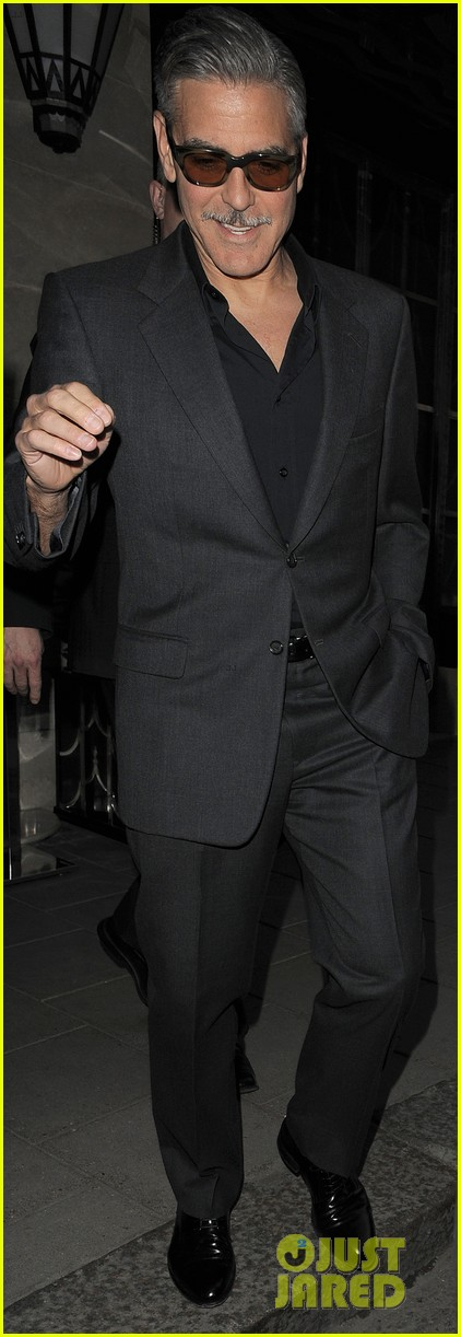 george clooney dines in london stacy keibler hits grand prix 032878288