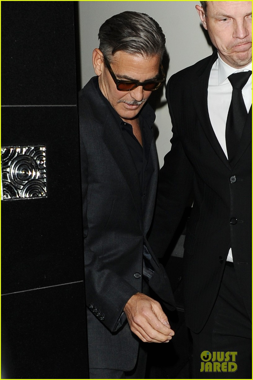 george clooney dines in london stacy keibler hits grand prix 072878292