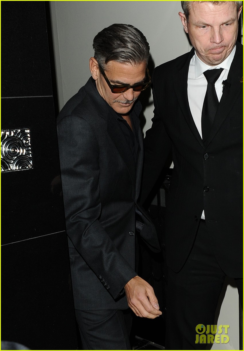 george clooney dines in london stacy keibler hits grand prix 082878293