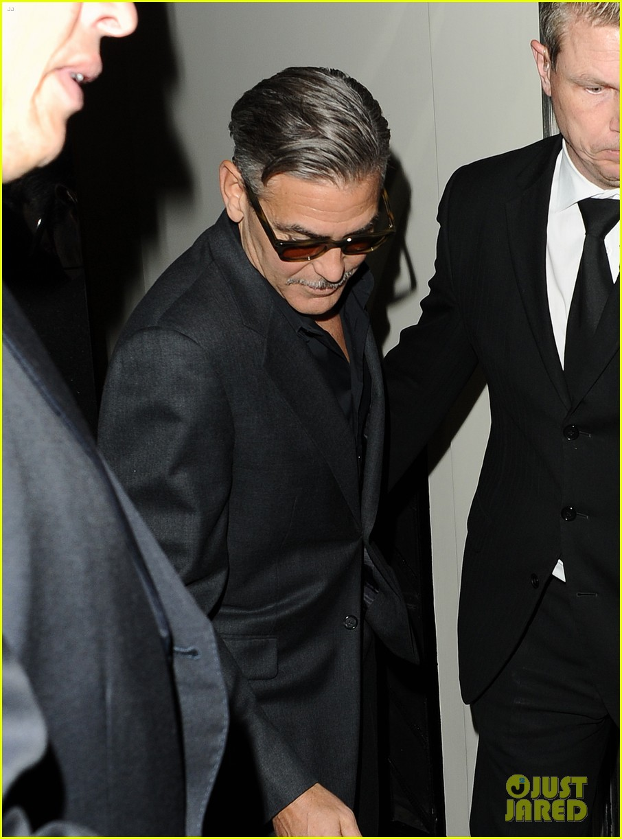 george clooney dines in london stacy keibler hits grand prix 092878294