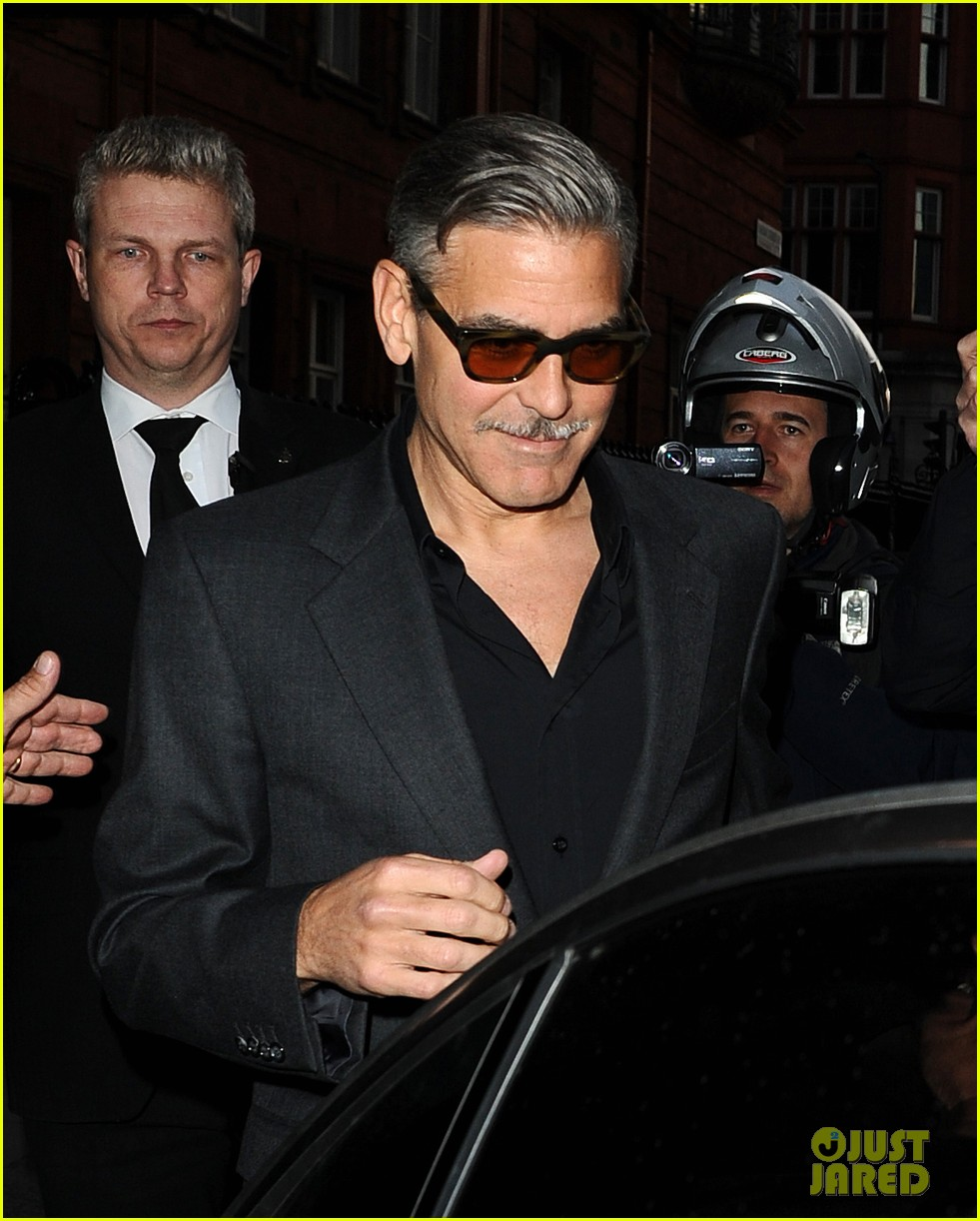 george clooney dines in london stacy keibler hits grand prix 122878297