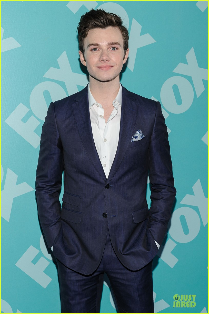 jenna ushkowitz chris colfer fox upfront presentation with glee cast 042869948