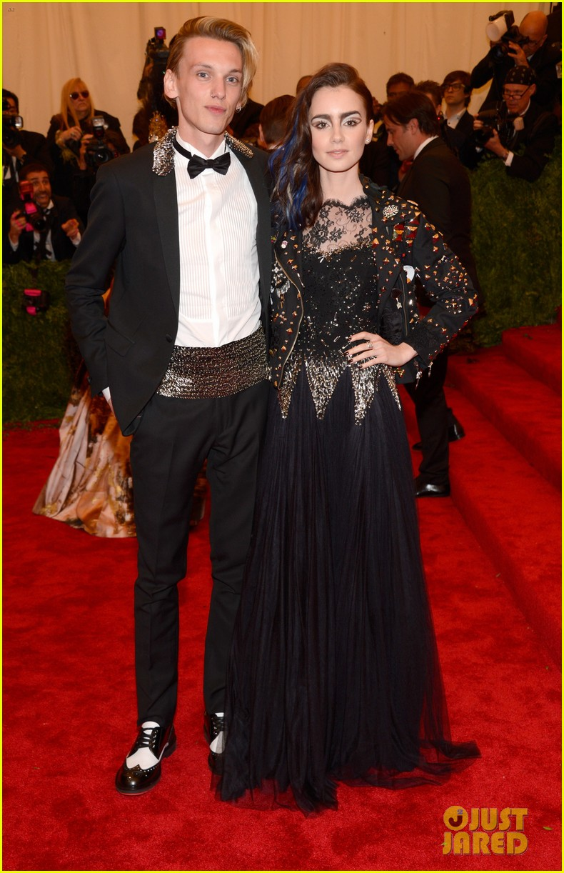 lily collins jamie campbell bower met ball 2013 red carpet 022865677