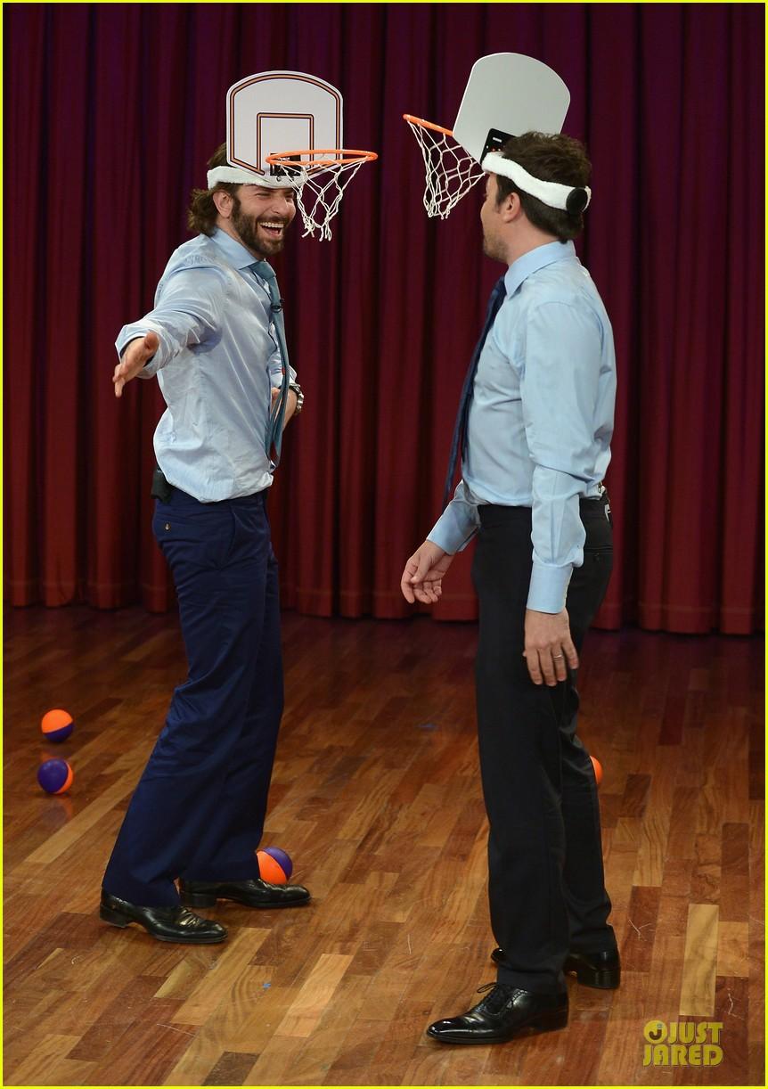 bradley cooper wears mini basketball hoop on fallon 052869761