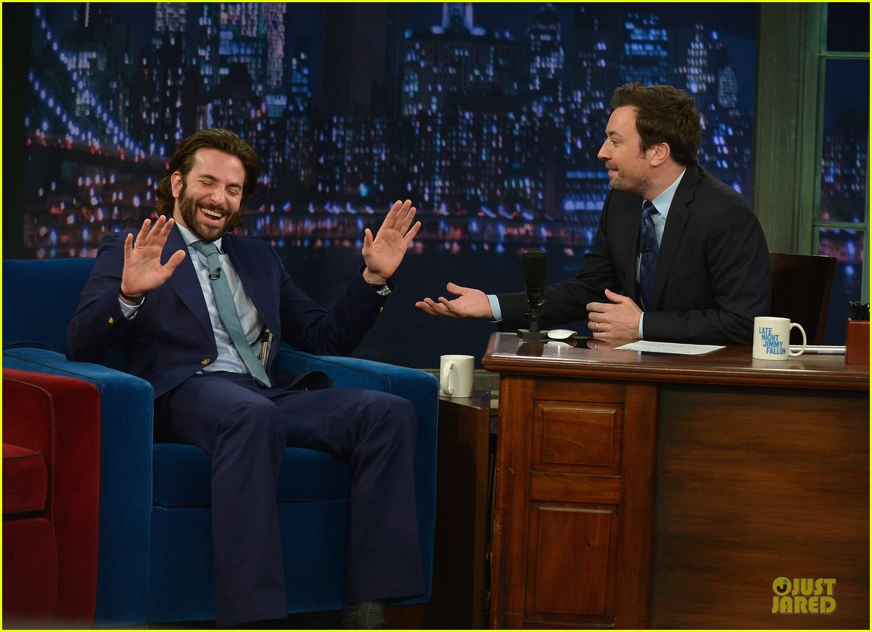 bradley cooper wears mini basketball hoop on fallon 142869770