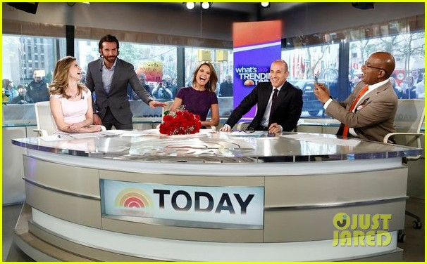 bradley cooper surprises savannah guthrie with flowers video 02