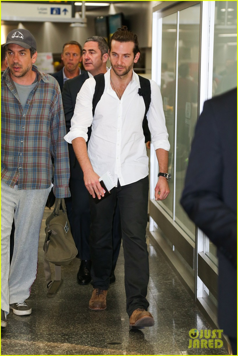 bradley cooper shirtless after brazil arrival with hangover guys 242879444