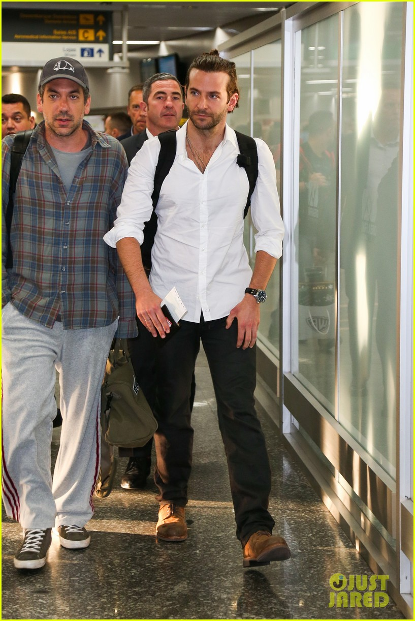 bradley cooper shirtless after brazil arrival with hangover guys 262879446