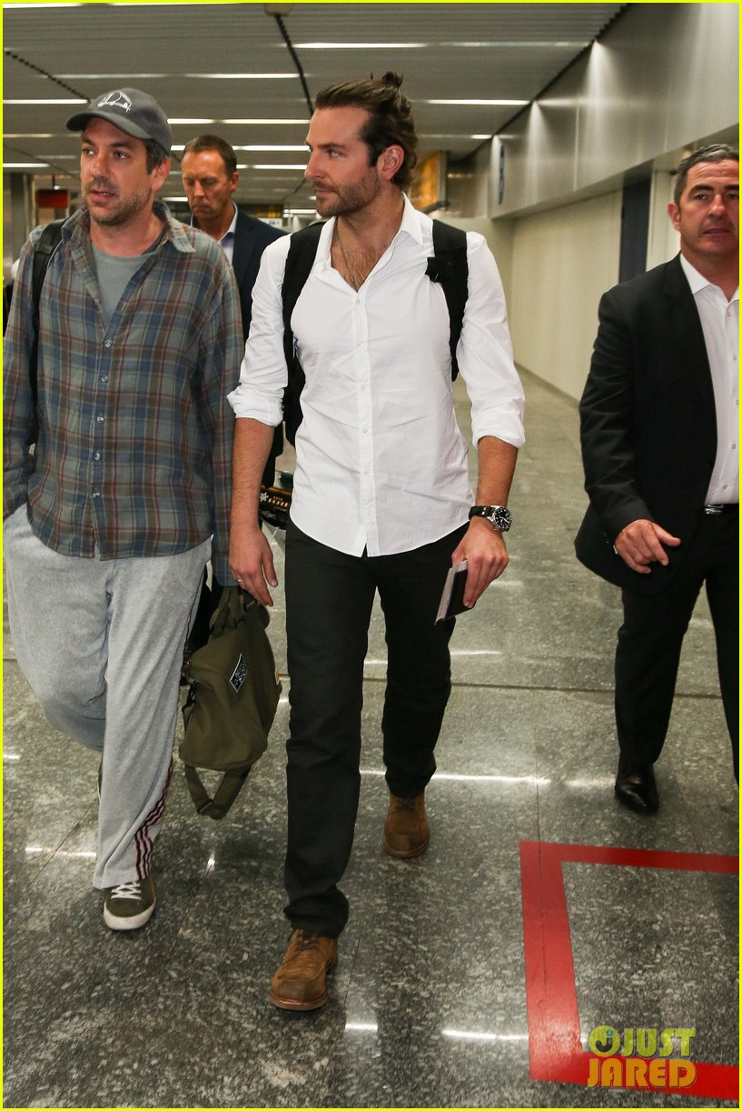 bradley cooper shirtless after brazil arrival with hangover guys 312879451