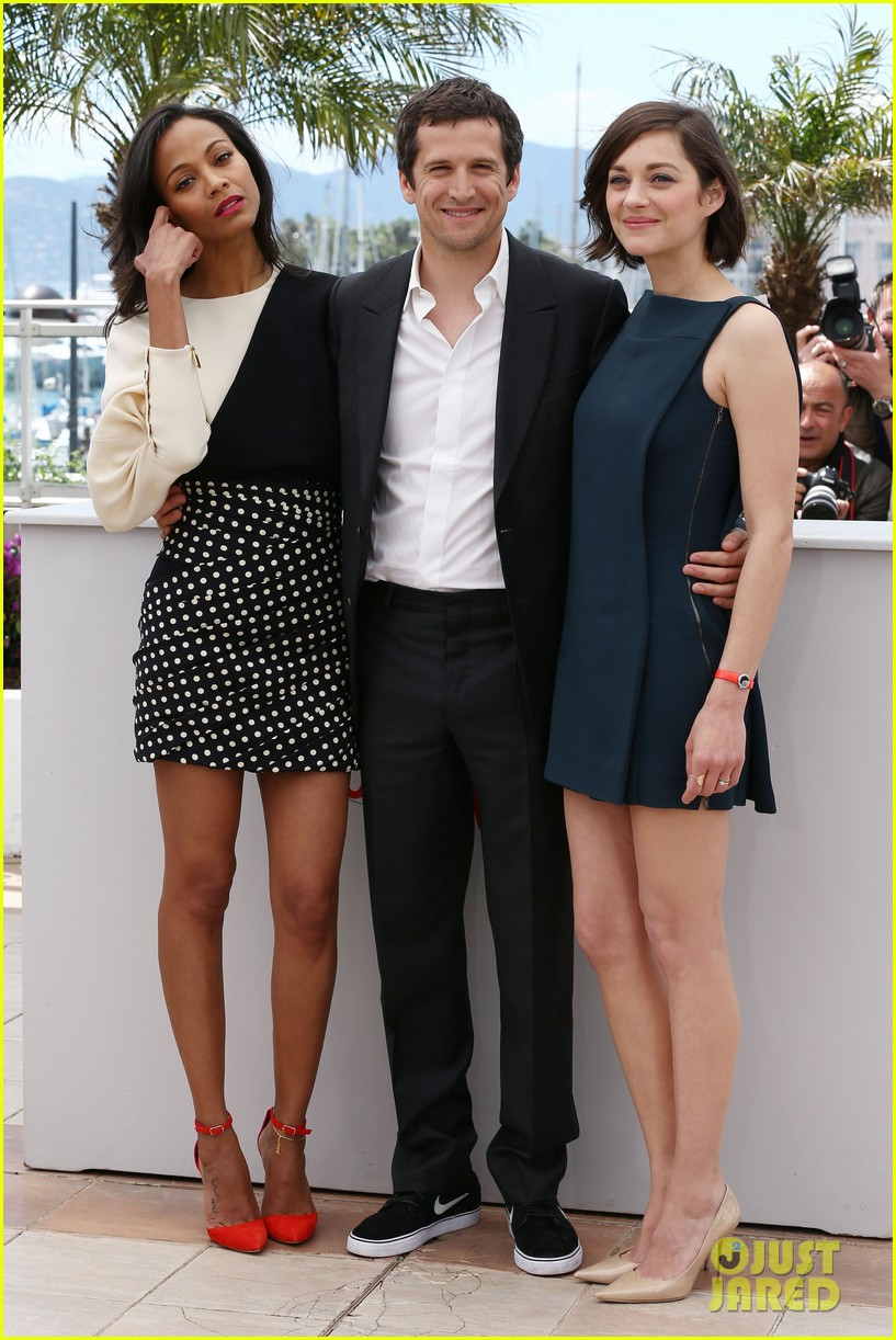 marion cotillard zoe saldana cannes blood ties photo call 142874589