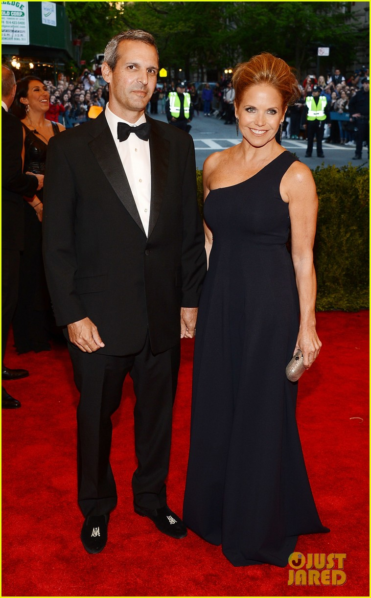 katie couric met ball 2013 red carpet with john molner 012865906