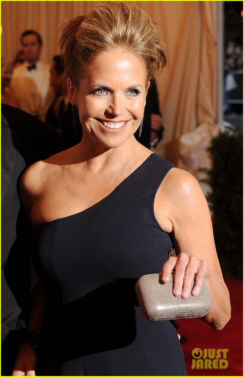katie couric met ball 2013 red carpet with john molner 022865907