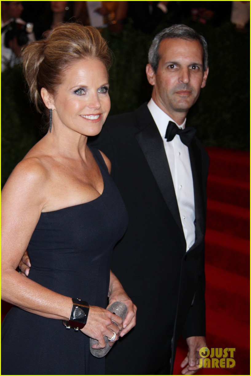 katie couric met ball 2013 red carpet with john molner 032865908