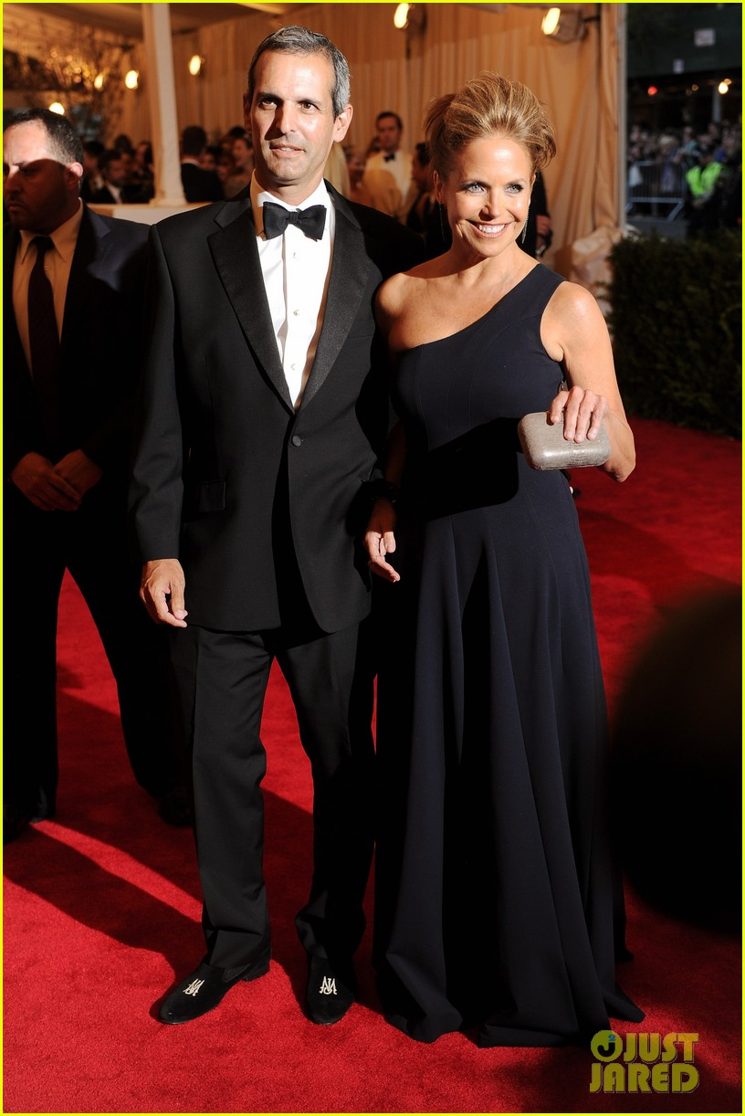katie couric met ball 2013 red carpet with john molner 042865909