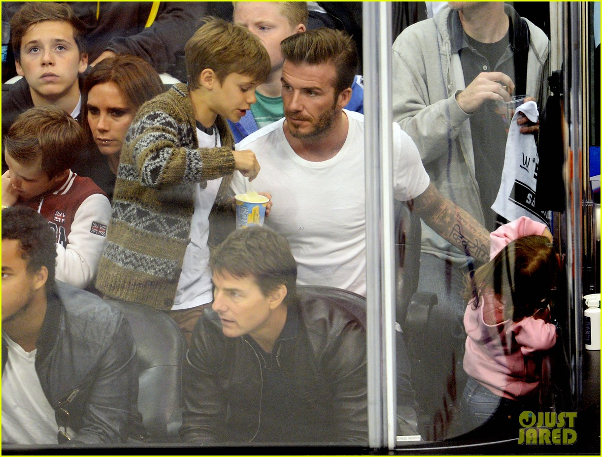 tom cruise david beckham kings game with families 03