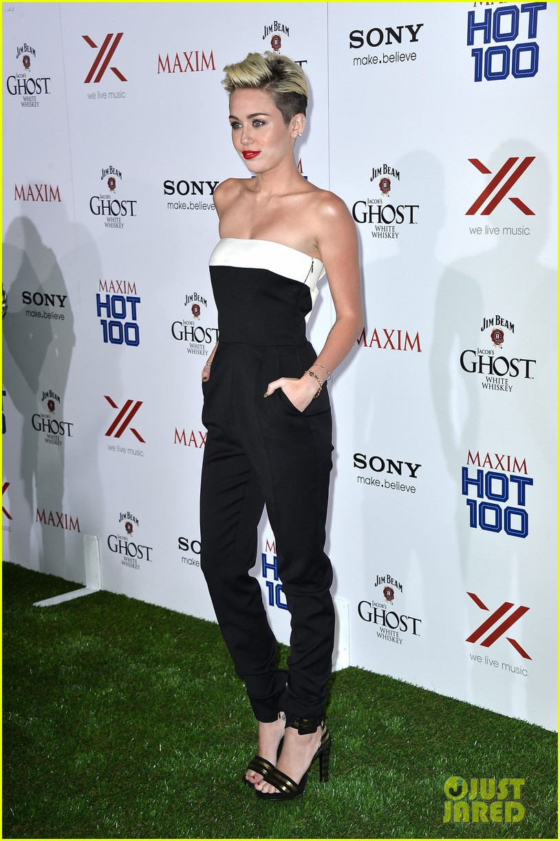 miley cyrus maxim hot 100 party 10
