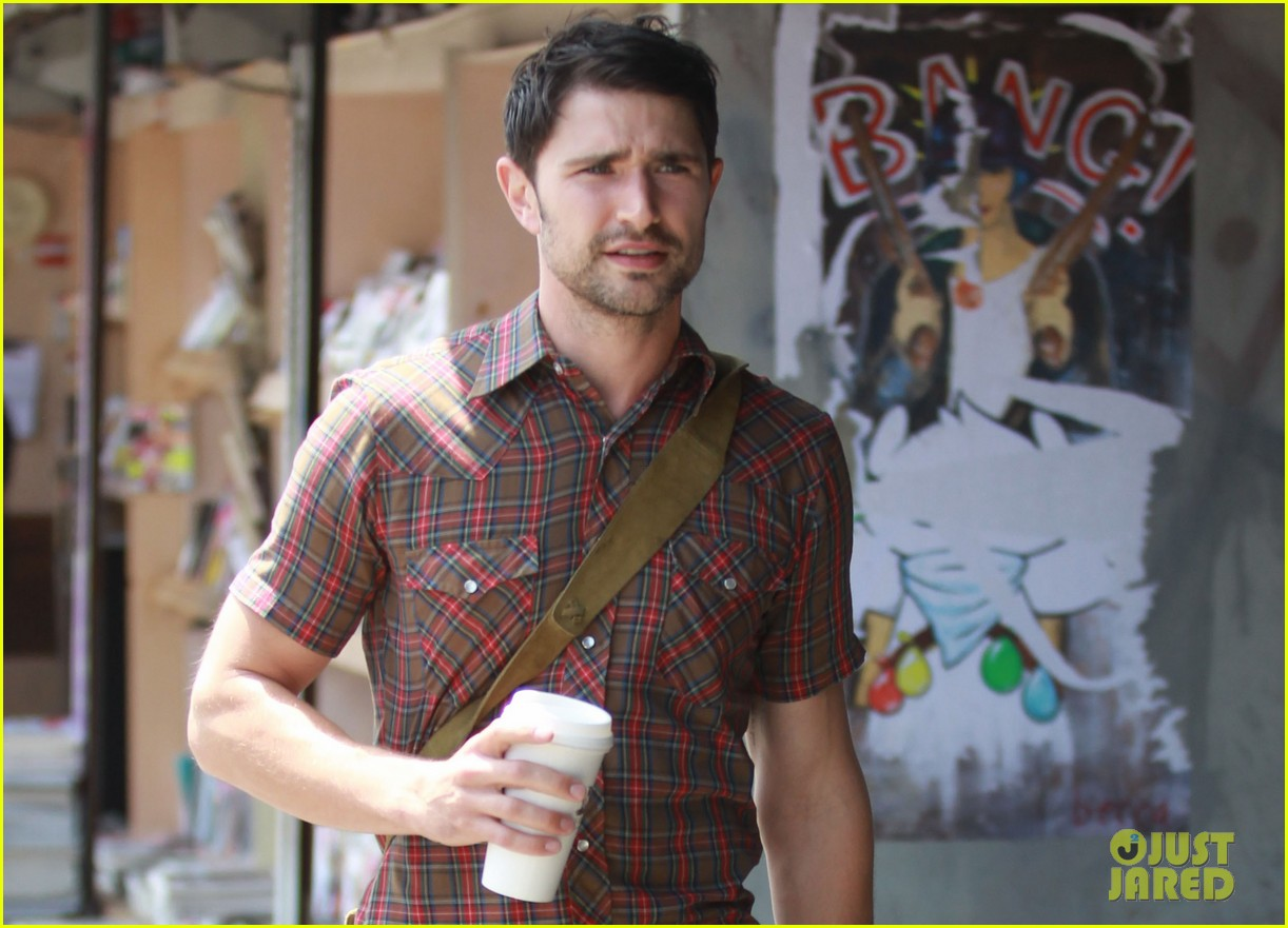 matt dallas gets caffeinated at kings road cafe 042867870