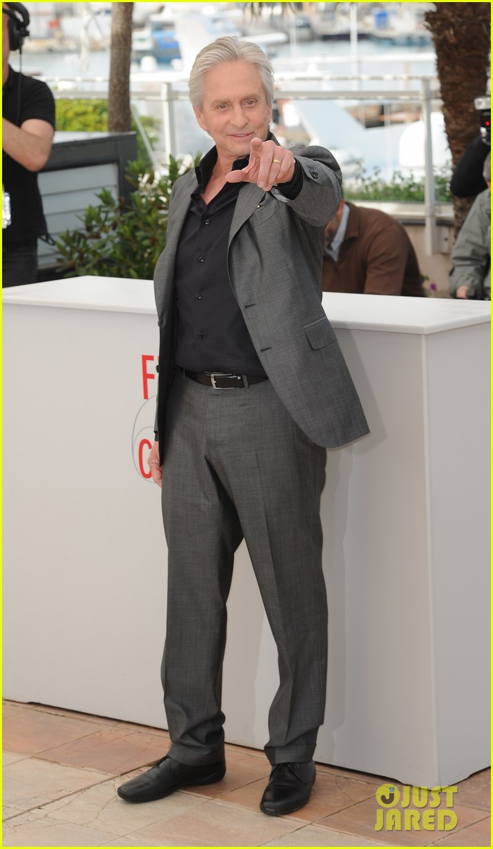 matt damon michael douglas cannes behind the candelabra photo call 112875316